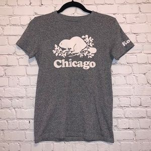 Roots Chicago Short Sleeve 100% Cotton Tee Shirt